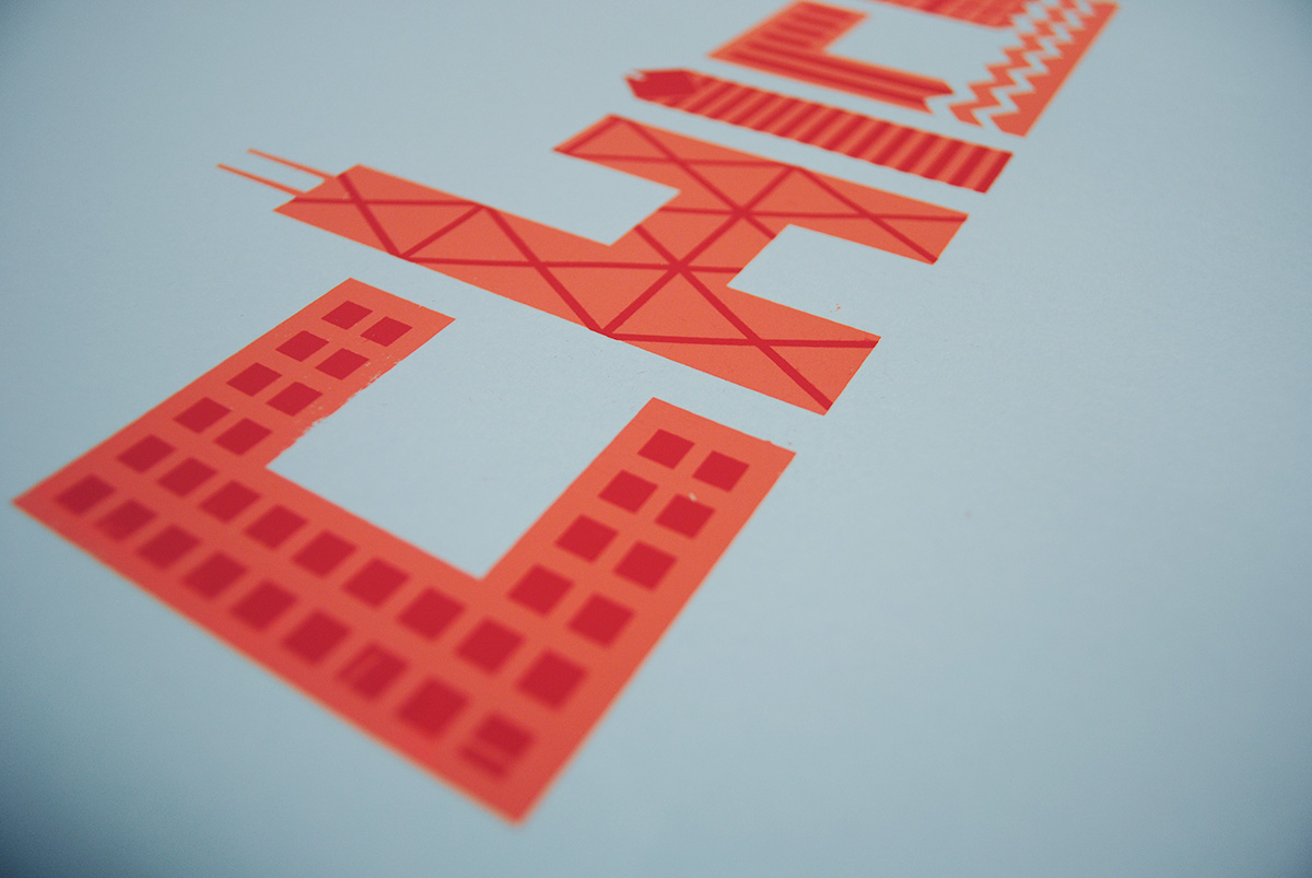Chicago Architecture Screen Printed Poster